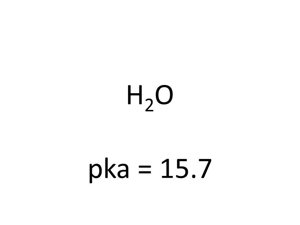 H2OH2O pka = 15.7