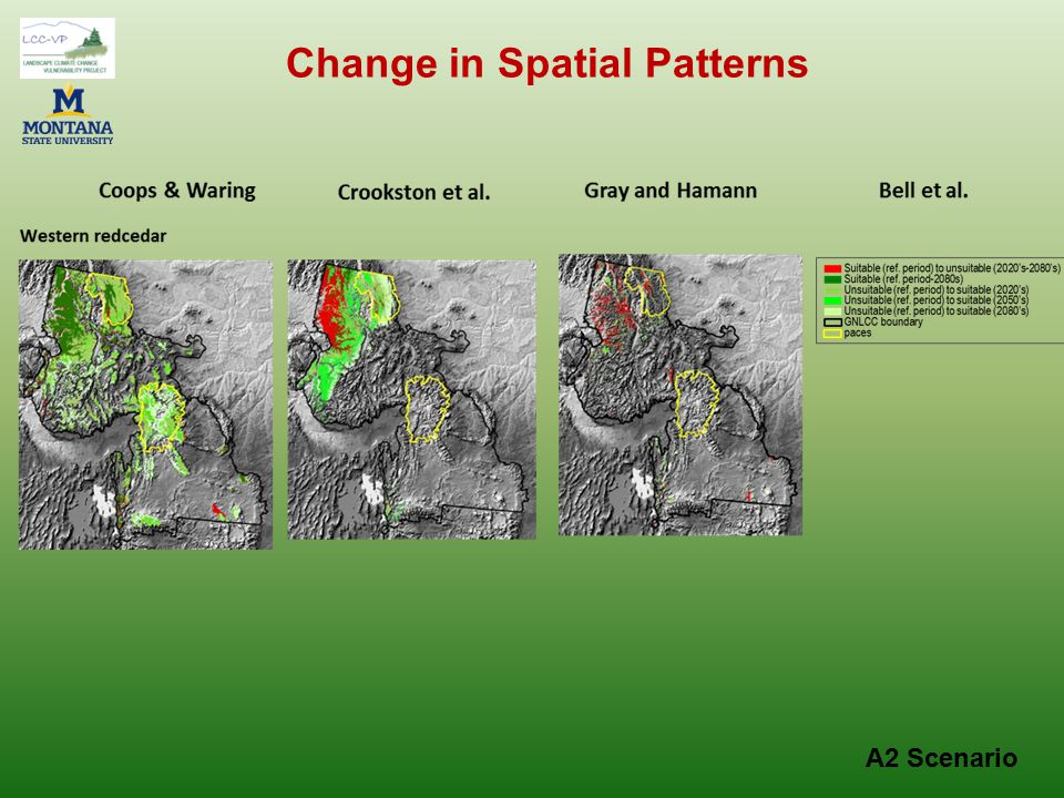 A2 Scenario Change in Spatial Patterns