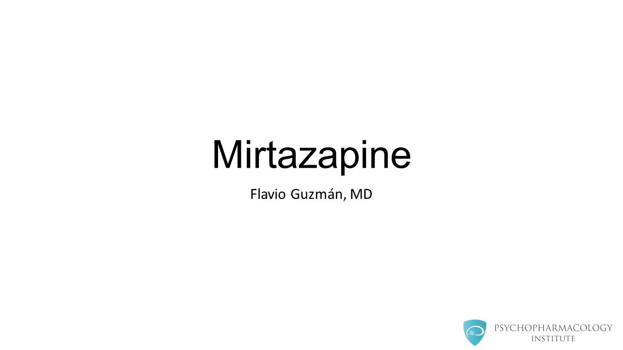 Mirtazapine as augmenting agent Relatively easy to combine with other antidepressants, California Rocket Fuel Complementary MOA STAR*D: Mirtazapine+ Venlafaxine outperformed tranylcypromine (1) Not statistically significant Case series of 32 patients (2), response rate (based on CGI scale): 44% at 4 weeks 50% at 8 weeks 1.McGrath, Patrick, et al.
