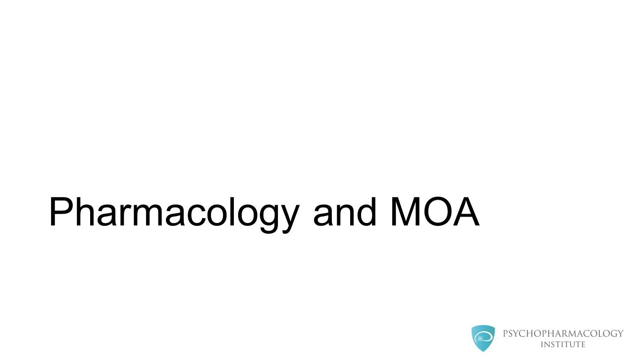 Pharmacology and MOA