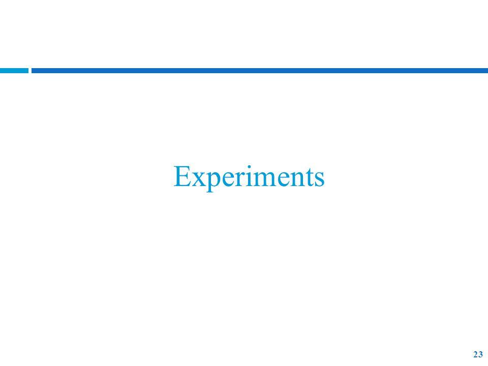 Experiments 23