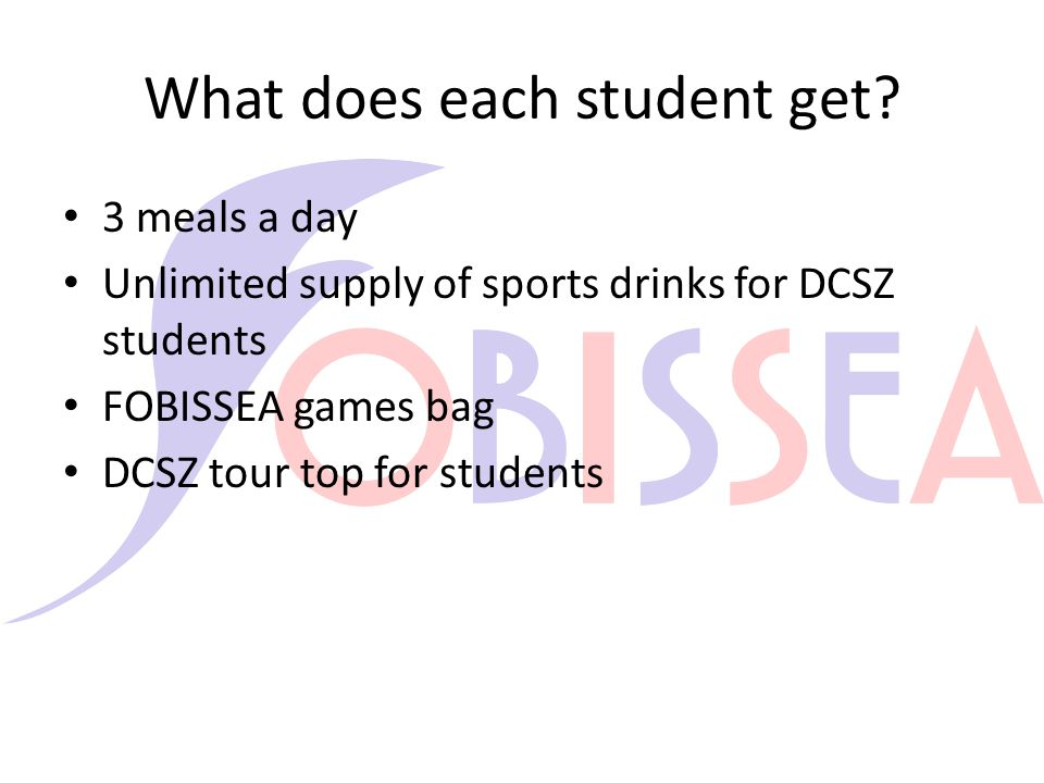 What does each student get.