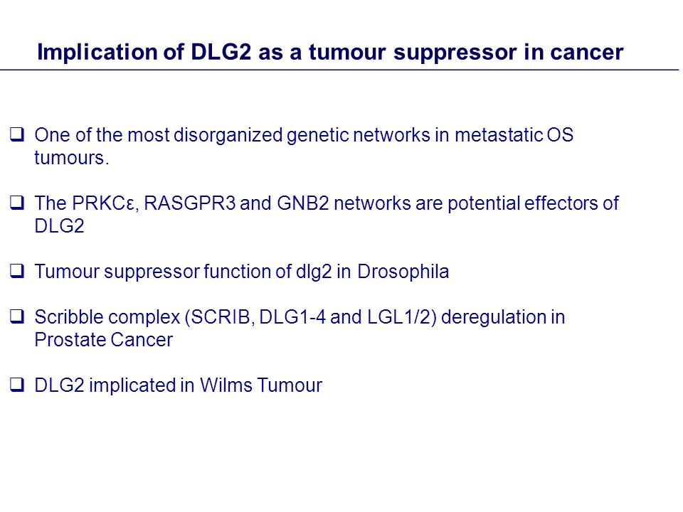  One of the most disorganized genetic networks in metastatic OS tumours.