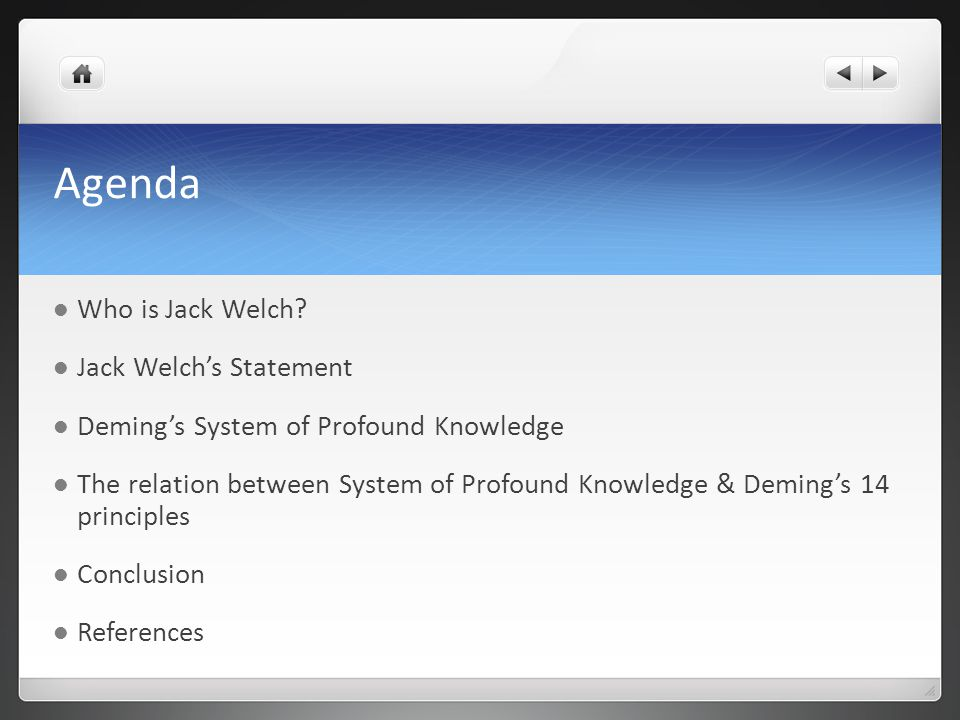 Agenda Who is Jack Welch.
