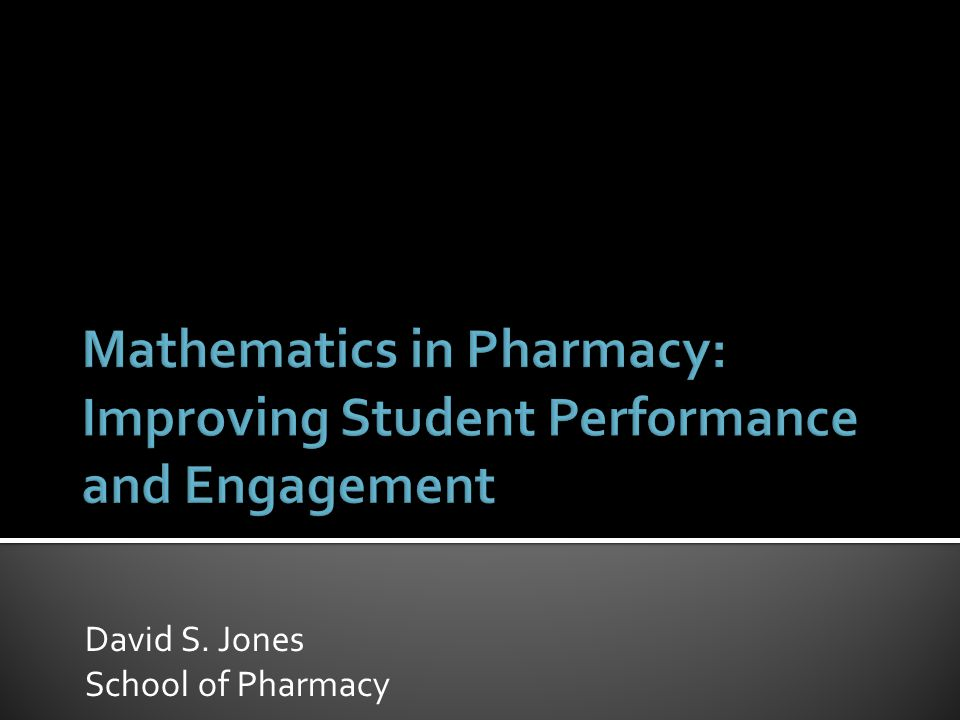 David S. Jones School of Pharmacy