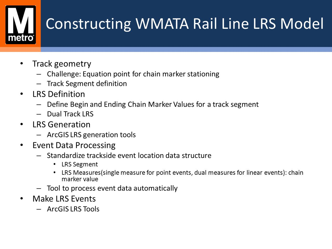 GIS-BASED RAIL LINE ASSET VIEWER Switch track using Track Select Tool from the map