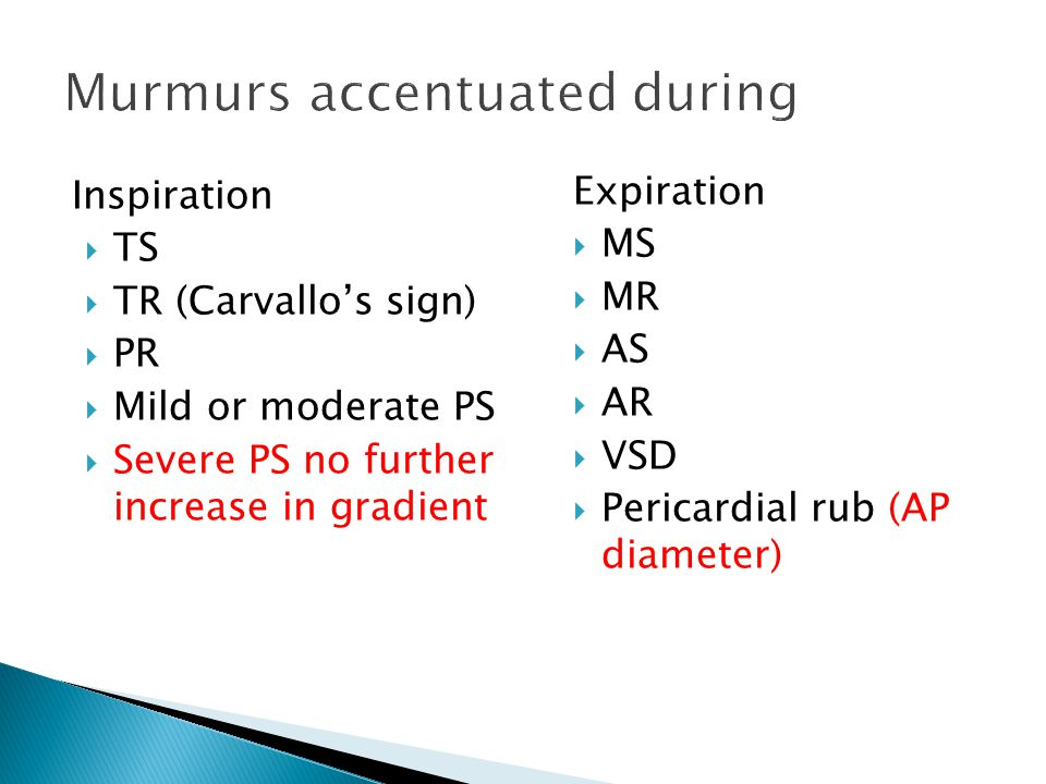 Reduction cardiac size leads to  Early appearance of click and murmur of MVP  Murmur intensity show variable response