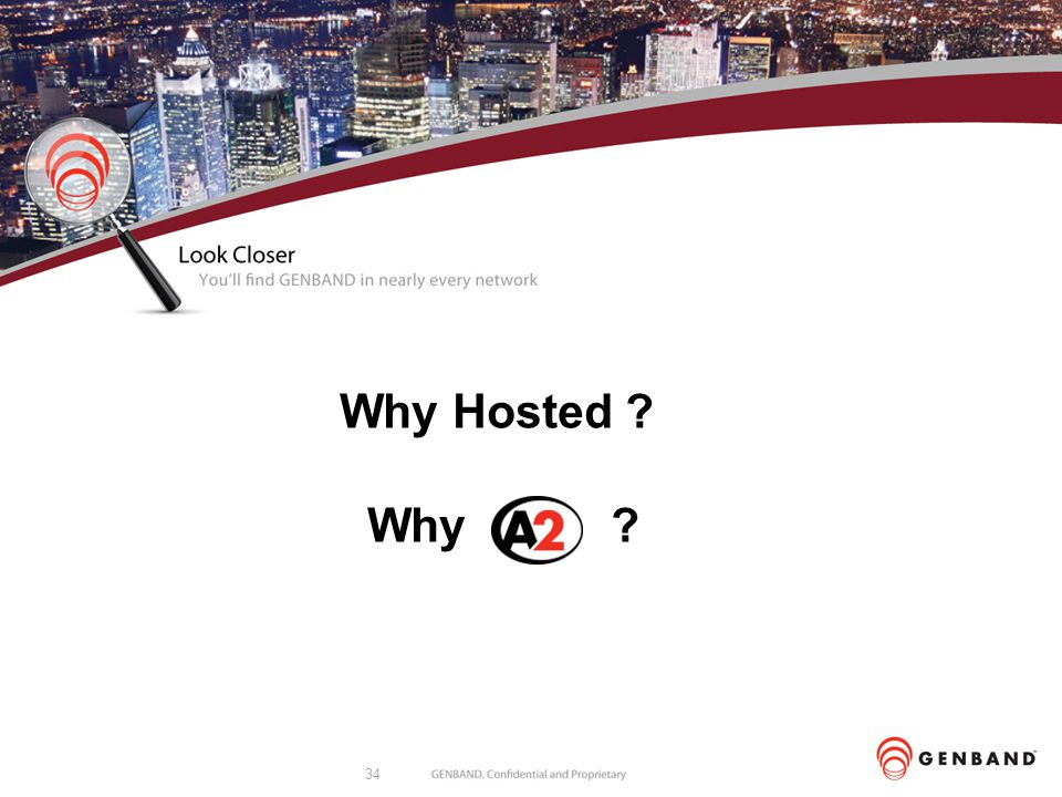 34 Why Hosted ? Why ?