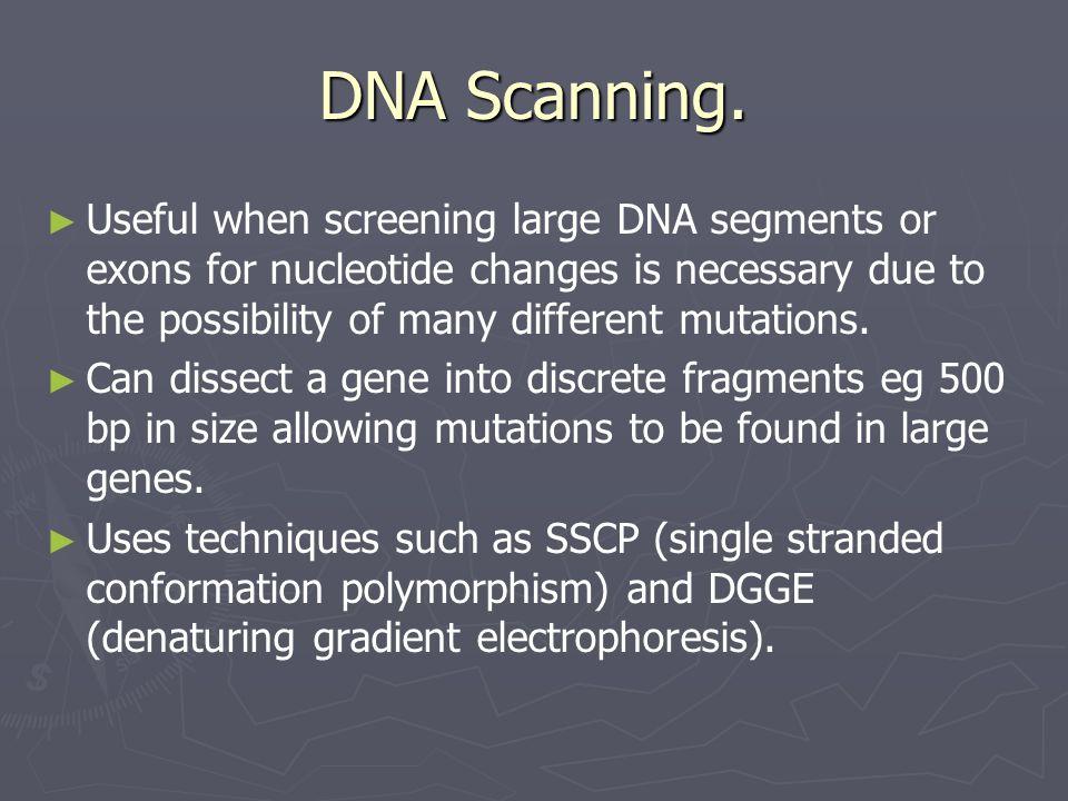 DNA Scanning.