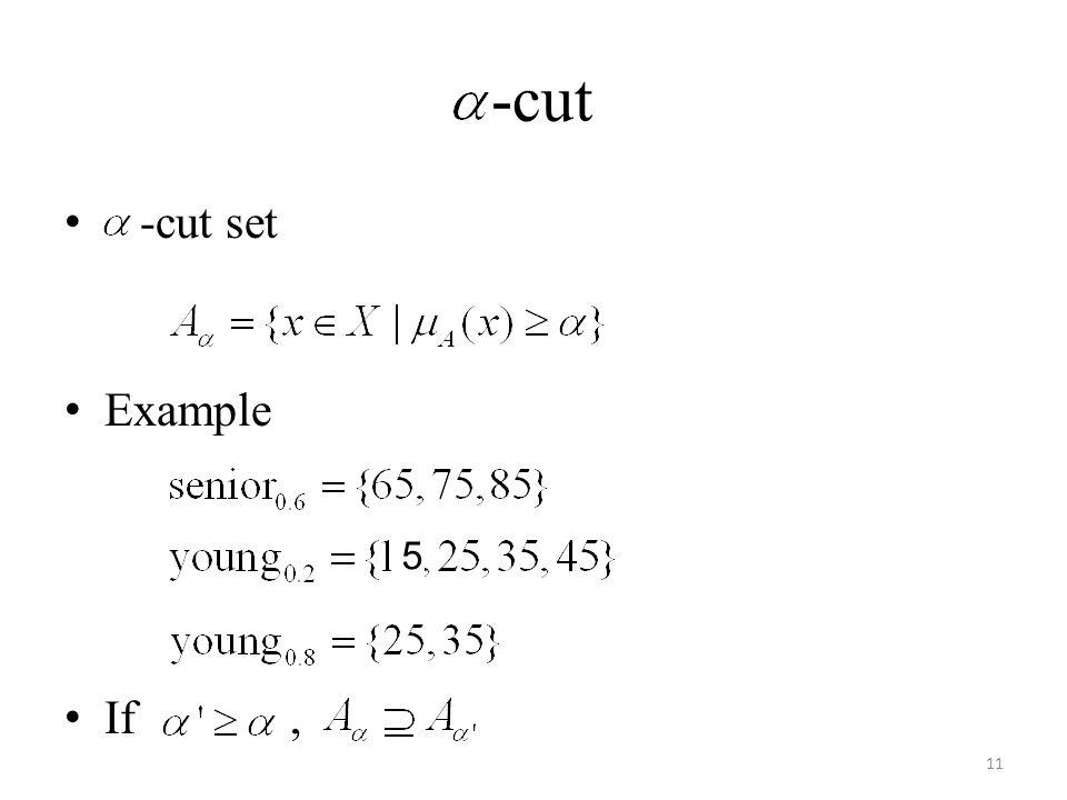 -cut -cut set Example If, 11 5