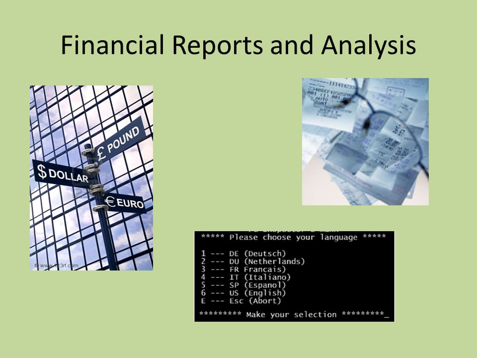 Financial Reports and Analysis