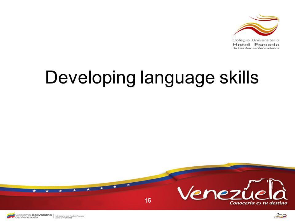15 Developing language skills