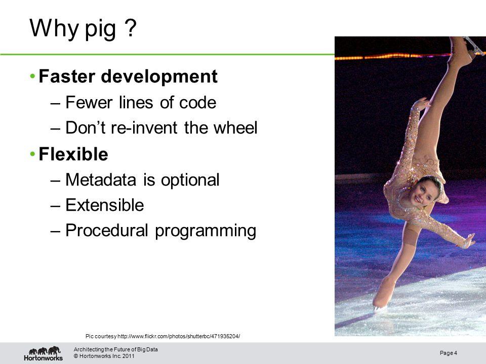 © Hortonworks Inc. 2011 Why pig .