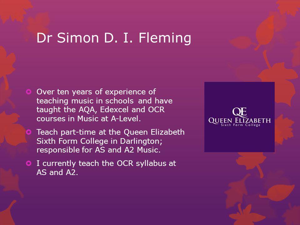 Dr Simon D. I.
