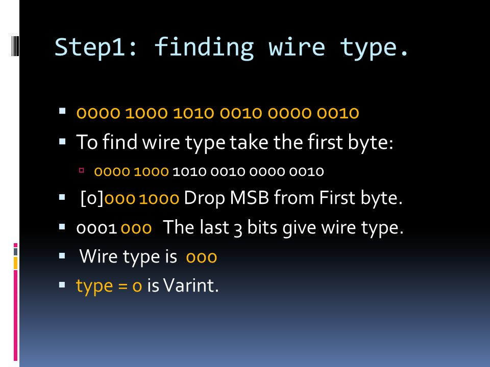 Step1: finding wire type.