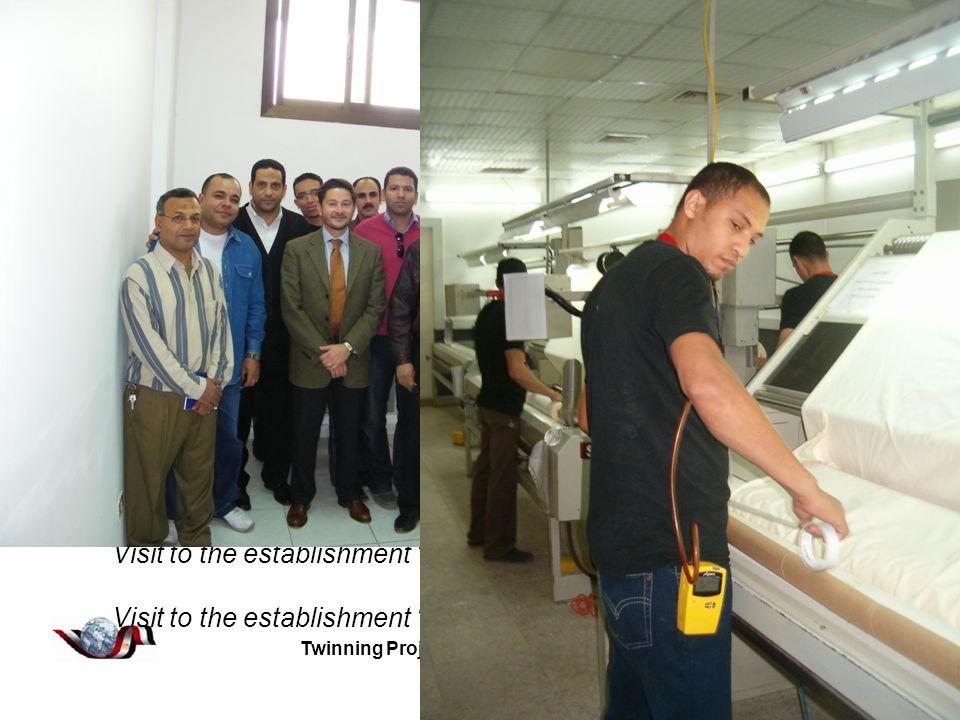 Twinning Project EG 07 AA SO 07 Component 2 Activity A2.7 - Outputs Governorate of Sharkeya: October – November 2009 Visit to the Directorate of Manpower and Migration of Sharkeya Visit to the Local OHS Office and Research Unit of 10 th Ramadan Visit to the Local OHS Office of Zagazig Visit to the Local OHS Office of Belbes Visit to the establishment Arma Visit to the establishment Egytech Cables Visit to the establishment Industrial Development Works Visit to the establishment Mepaco-Medifood