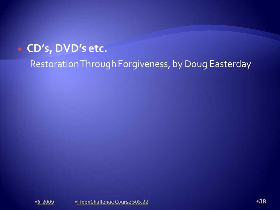  CD's, DVD's etc.