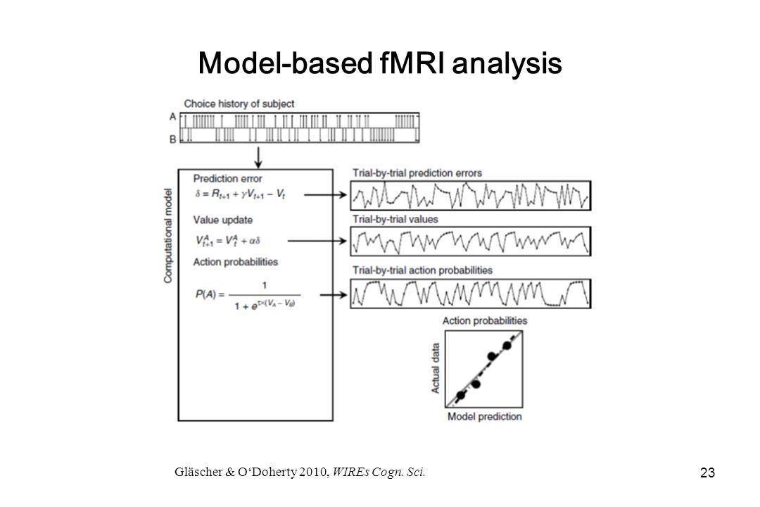 Model-based fMRI analysis Gläscher & O'Doherty 2010, WIREs Cogn. Sci. 23
