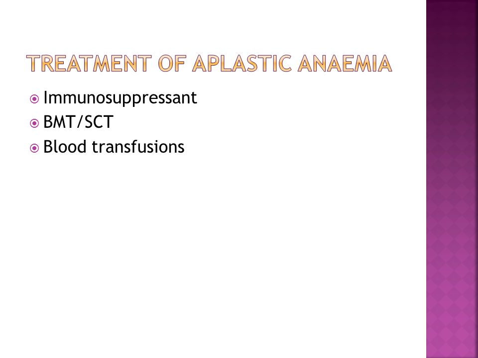  NCNC anaemia  Pancytopenia  Bone marrow biopsy