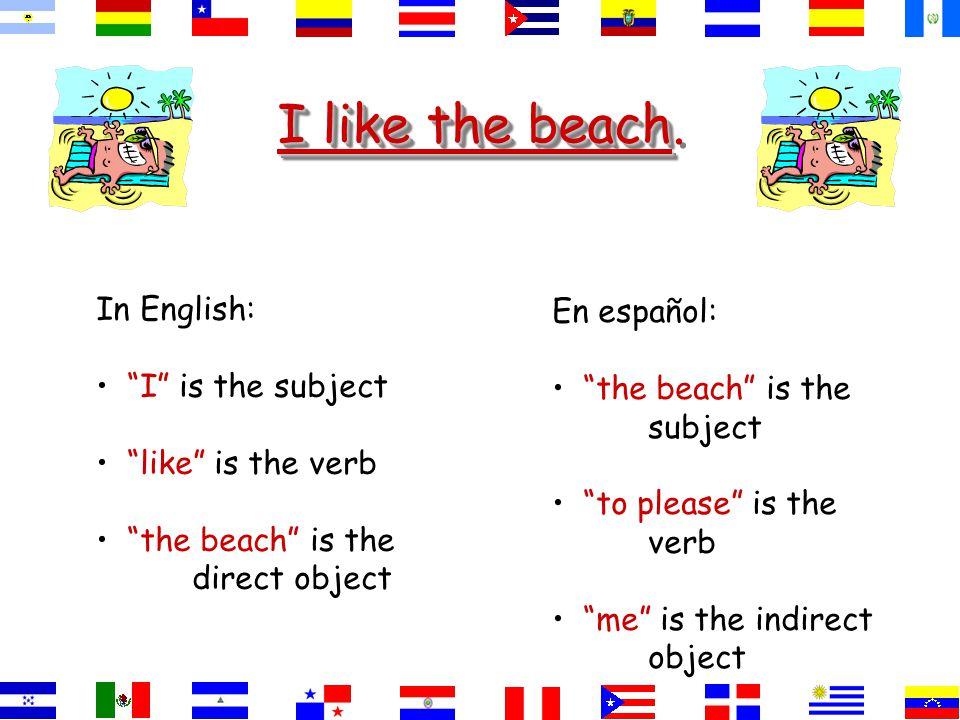 I like the beach I like the beach.