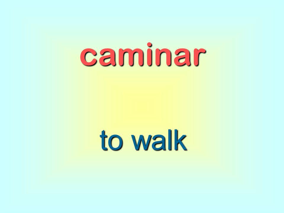 caminar to walk