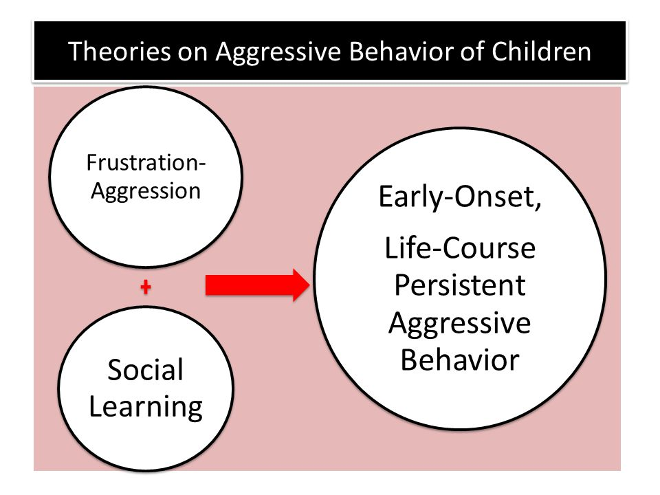Theories on Aggressive Behavior of Children Frustration- Aggression Social Learning Early-Onset, Life-Course Persistent Aggressive Behavior