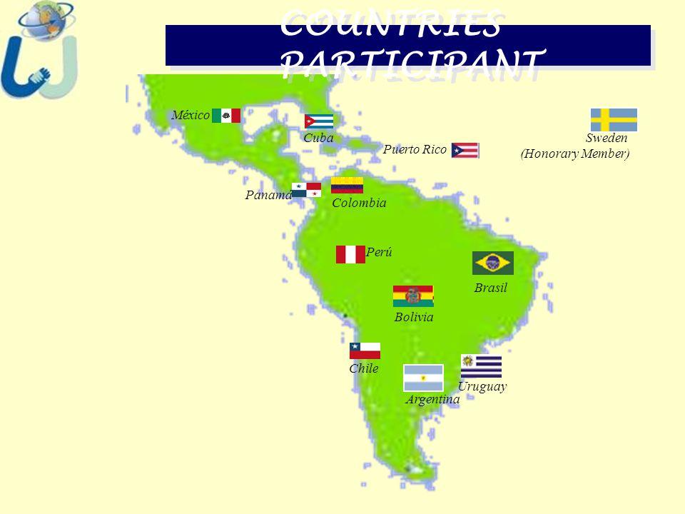 Argentina COUNTRIES PARTICIPANT Brasil Bolivia ChileColombia Cuba México Panamá Perú Uruguay Sweden (Honorary Member) Puerto Rico