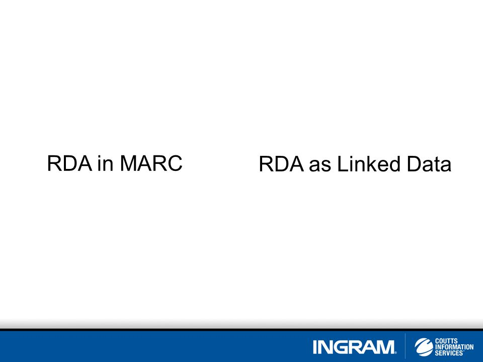 RDA in MARC RDA as Linked Data