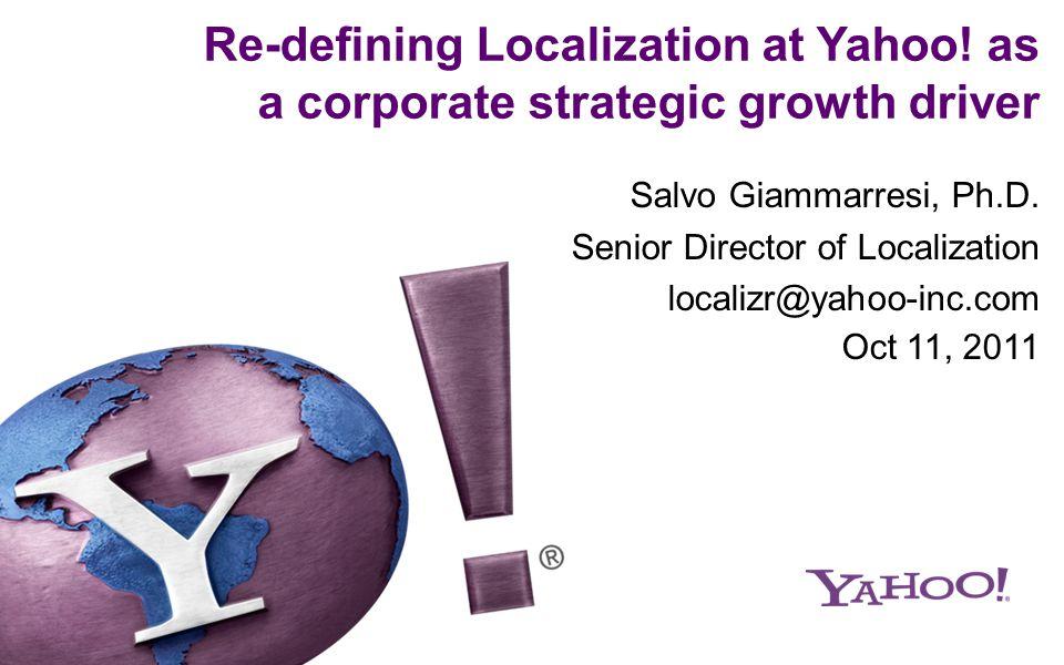 A great global Internet brand Yahoo.