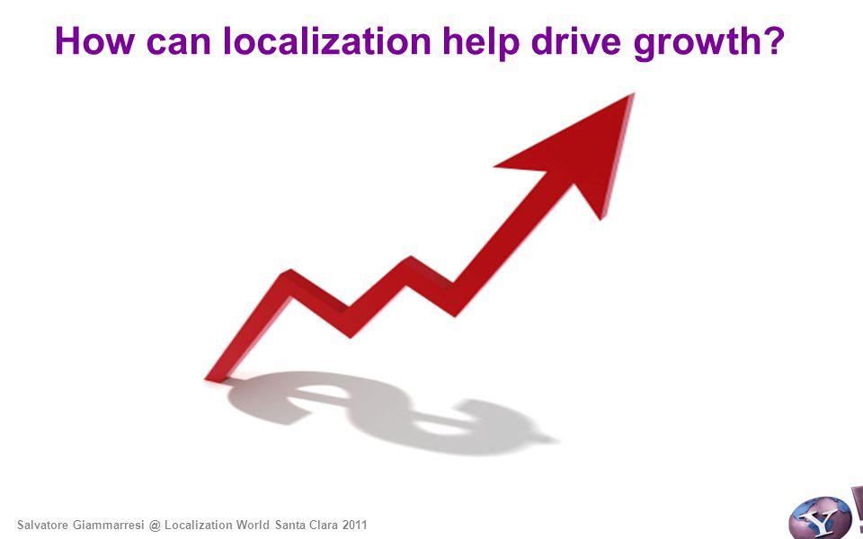 How can localization help drive growth Salvatore Giammarresi @ Localization World Santa Clara 2011
