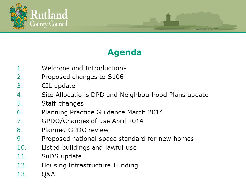 Proposed national space standard for new homes  Government announcement in March following consultation.