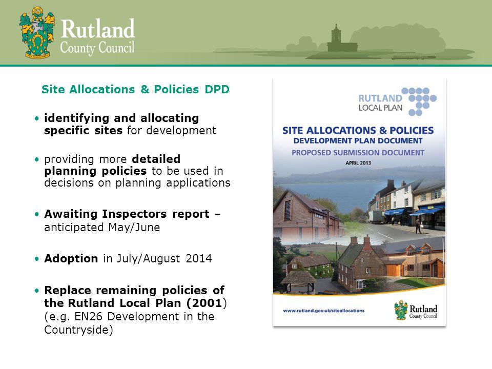 Neighbourhood Plans allow local communities (e.g.