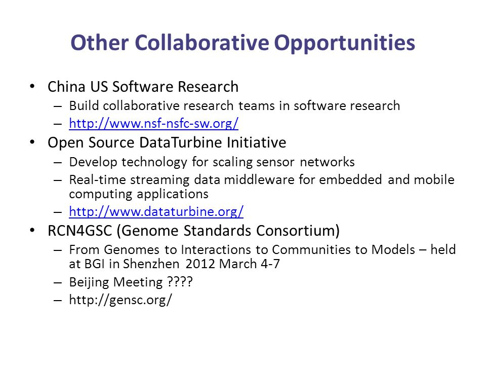 Infusing New Ideas: Strategic Partners For our future, we need to consider expertise, impact, and growth opportunities – New technology areas: Based on needs and areas we did not have represented – New scientific expeditions: Exciting science, opportunity to engage more scientists, build communities – New institutions/regions to engage – New participants – Students!: PRIME, GSA Building on PRIME Using GLEON model for students Growth in the past was mostly community driven – SEAIP (Southeast Asia Institute International Joint Research and Training Program in High-Performance Computing Applications and Networking Technology) with the PRAGMA Institute NSF Proposal
