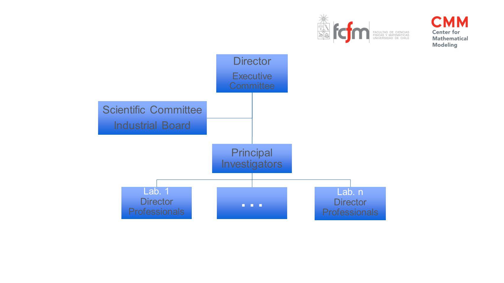 Director Executive Committee Lab. 1 Director Professionals Principal Investigators Lab.
