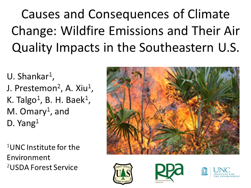 Motivation Land ownership, fuel loads, high fire activity, extensive wildland-urban interface (WUI), rapid forest regrowth and high level of collaboration (among local populations and fire managers) cited as drivers of wild fires in SE US (Source: Southern Fire Exchange)  42% of significant wildfires, and 52% of national ignitions occurred in the Southeastern U.S.