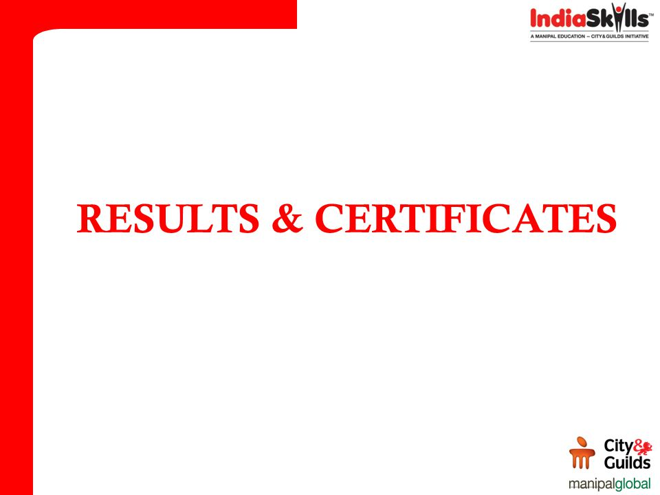 RESULTS & CERTIFICATES
