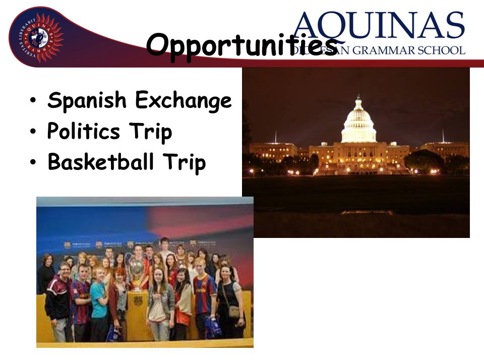 Opportunities Spanish Exchange Politics Trip Basketball Trip