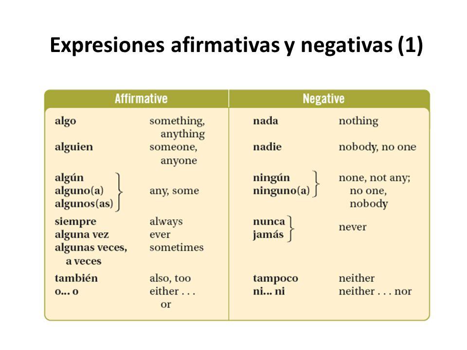 Expresiones afirmativas y negativas (1)