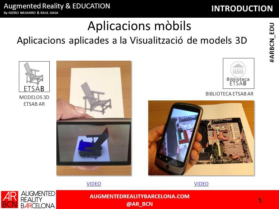 INTRODUCTION AUGMENTEDREALITYBARCELONA.COM @AR_BCN #ARBCN_EDU Augmented Reality & EDUCATION By ISIDRO NAVARRO & RAUL GASA 'AUMENTA.ME' Conference AR in EDUCATION 16 WEB