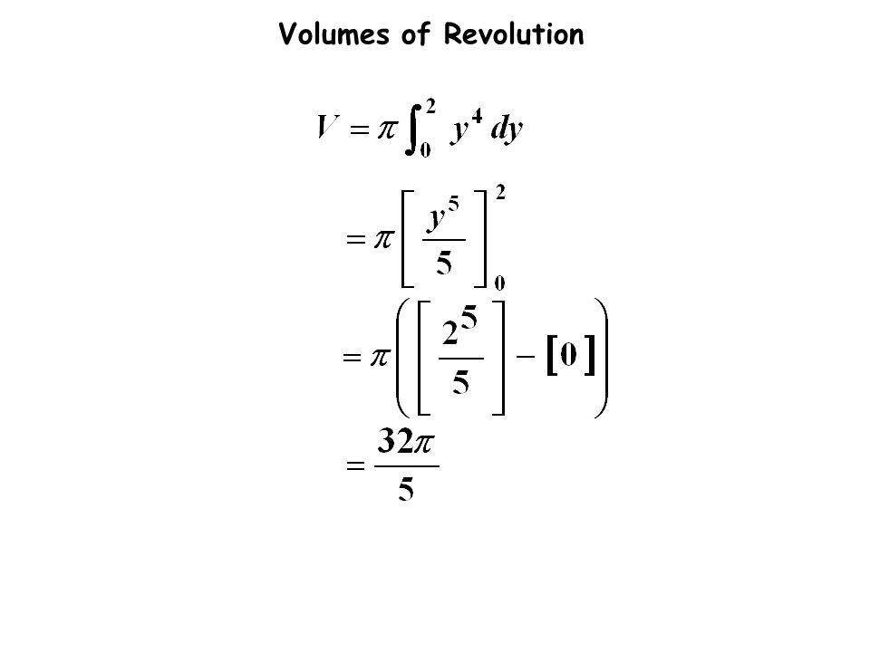 Volumes of Revolution