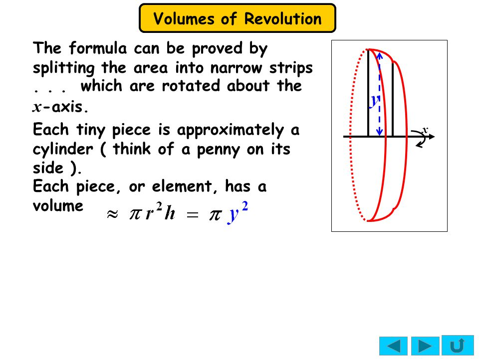 Volumes of Revolution Solutions: 1. (a), the x -axis and the lines x = 1 and x = 2.