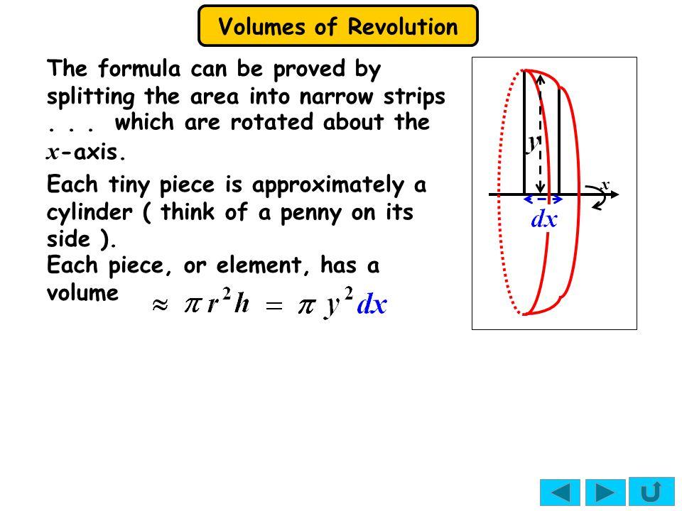 Volumes of Revolution Solutions: