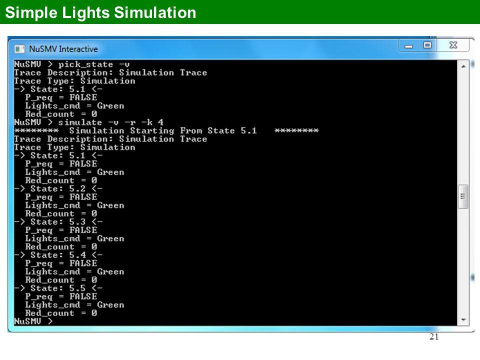 21 Simple Lights Simulation