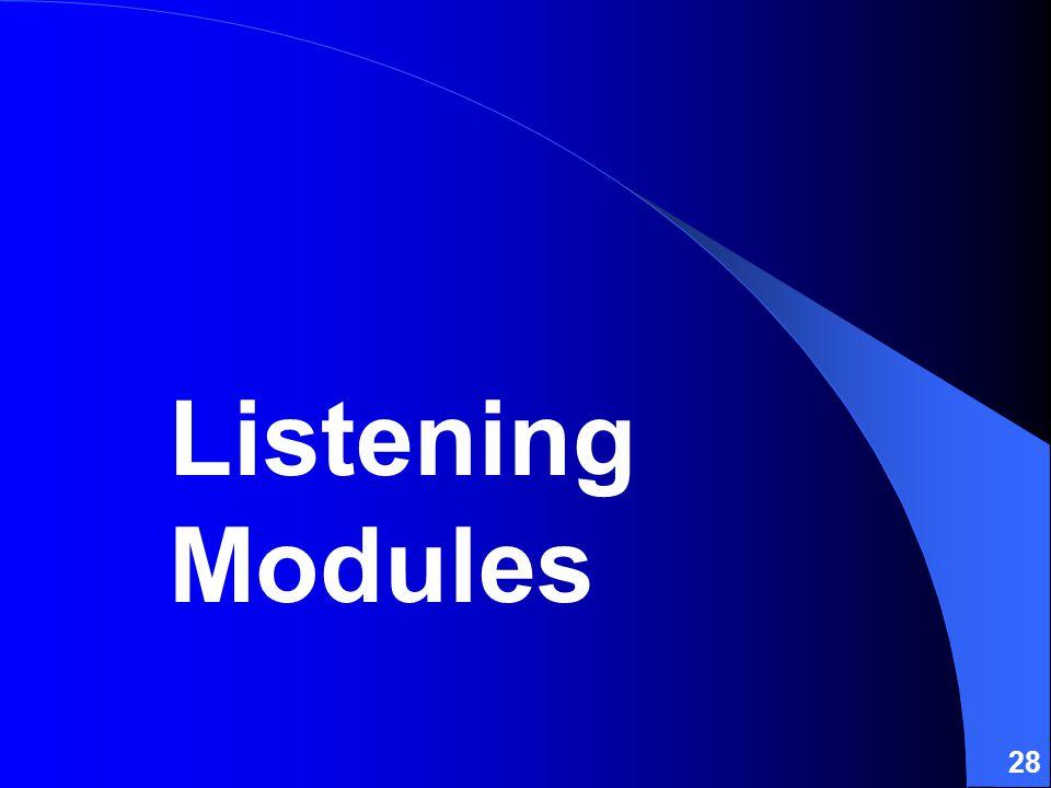 28 Listening Modules