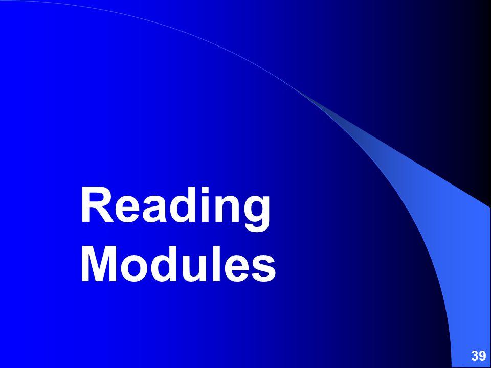 39 Reading Modules
