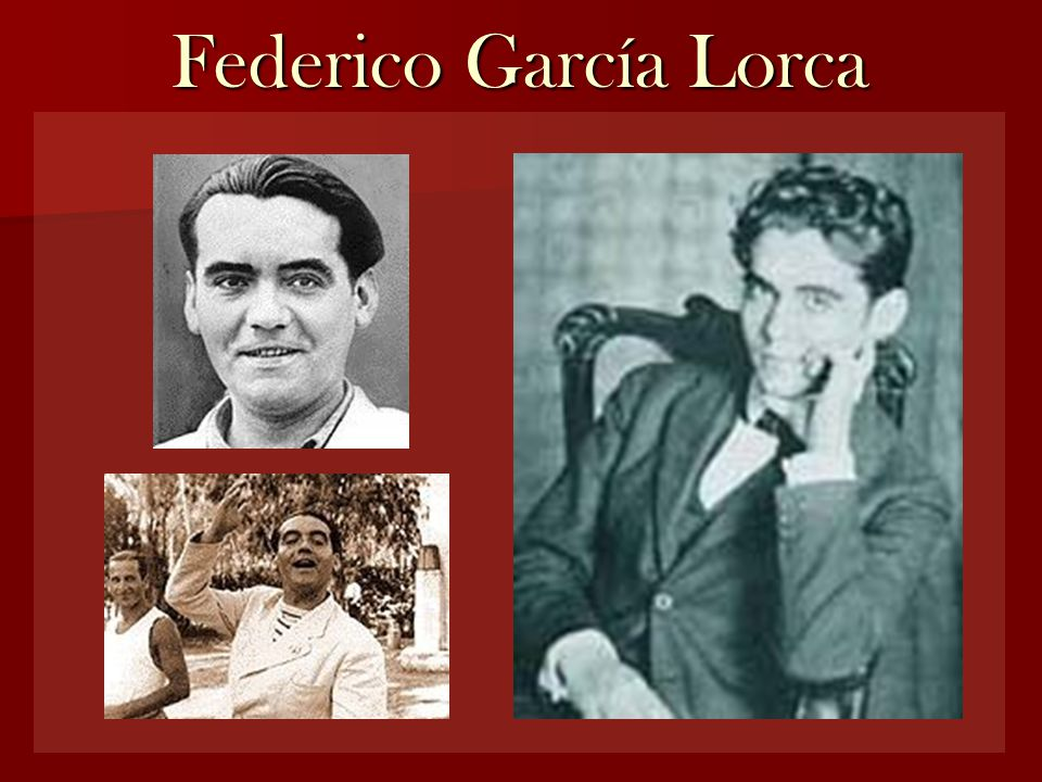 Knowing Lorca's poems (links) If you are interested in learning more things about Federico García Lorca, you can visit these websites on the internet http://www.garcia-lorca.org/Home/Idioma.aspx http://www.los-poetas.com/a/lorca.htm http://amediavoz.com/garcialorca.htm