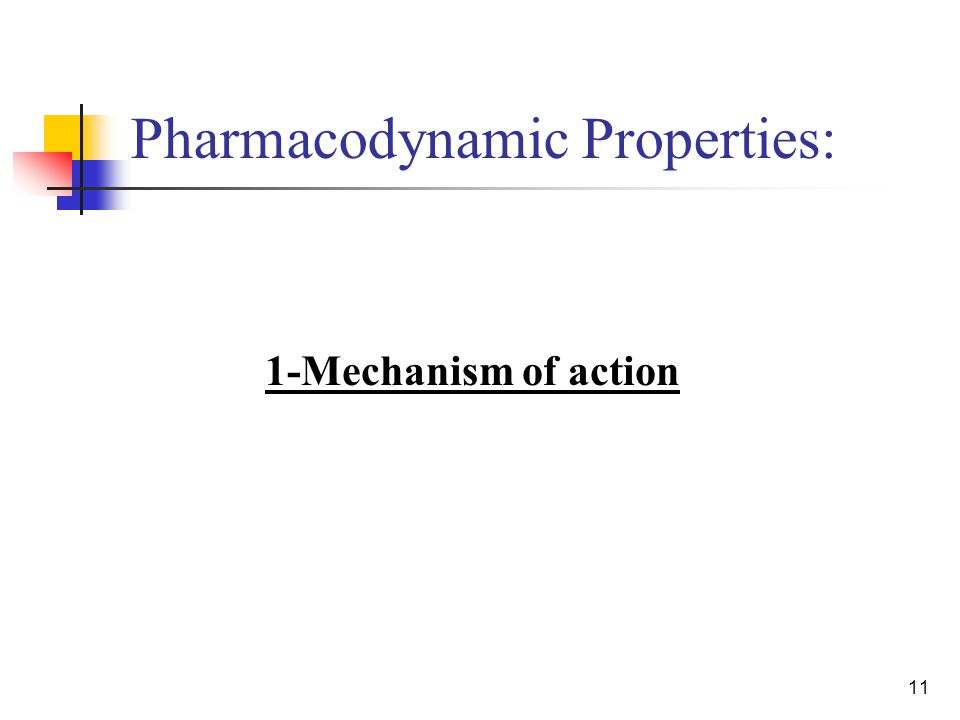 11 Pharmacodynamic Properties: 1-Mechanism of action