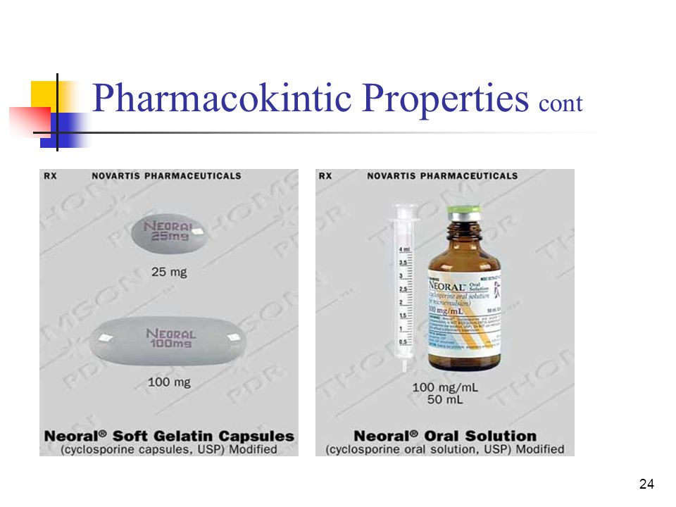 24 Pharmacokintic Properties cont