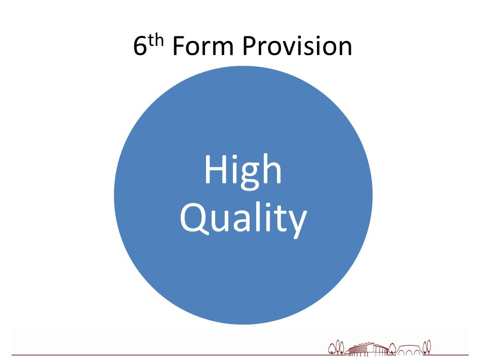 6 th Form Provision High Quality