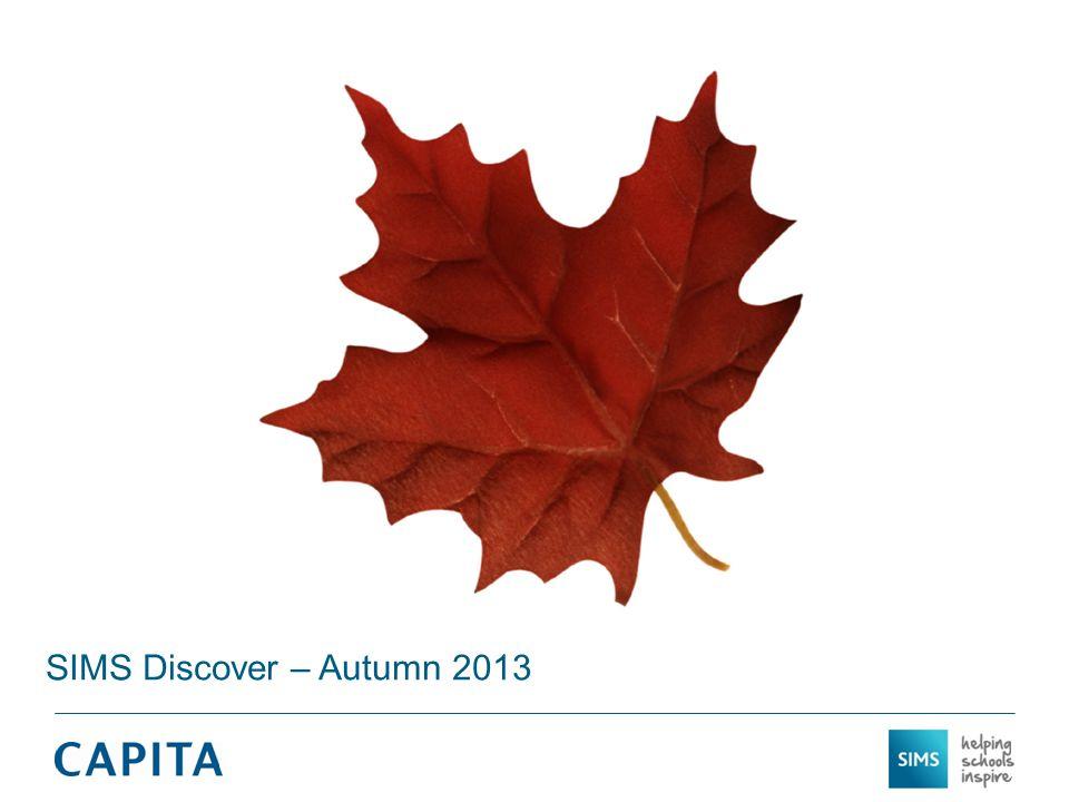 SIMS Discover – Autumn 2013